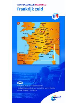 ANWB Wegenkaart Frankrijk zuid