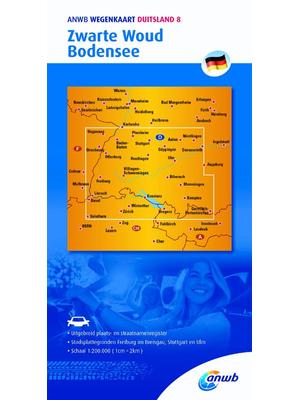 ANWB Wegenkaart Zwarte Woud en Bodensee