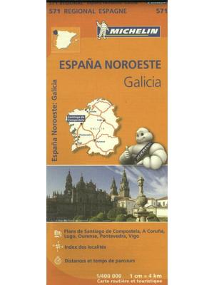 Michelin wegenkaart Regional 571 Spanje noord-west